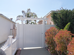 Vinyl Gate with Trellis