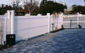 Vinyl Picket Rolling Gate