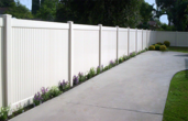 Vinyl Privacy Fencing Solid Ivory