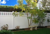 Vinyl Solid Fence with Accents