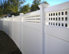Vinyl Privacy Fencing Solid with Lattice
