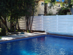 Vinyl Semi Privacy Fencing with Pool